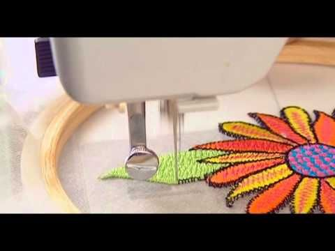 Learn how to do free hand embroidery on a normal sewing machine. Basic information on how to adjust your sewing machine, what you need and how to do the actu...