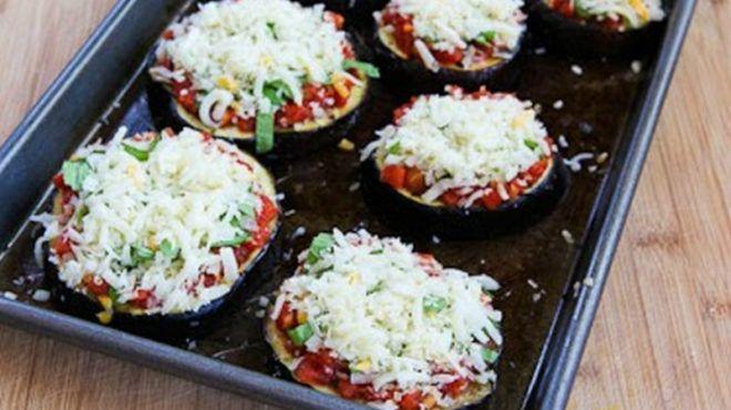 Мини-пицца из баклажанов