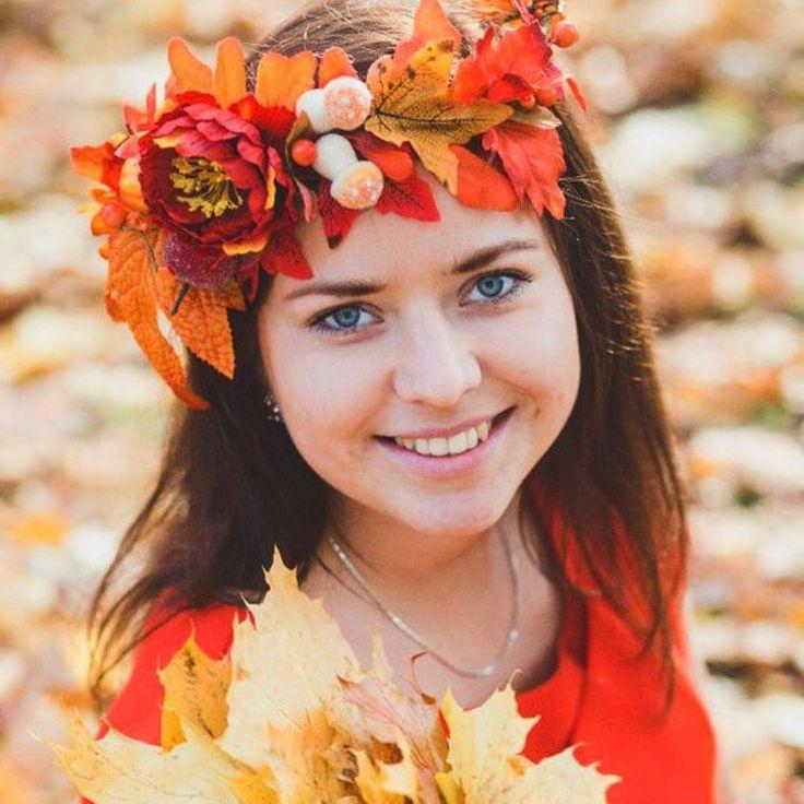 Купить Ободок-венок для фотосессии Осенние цветы - венок, венок из цветов, венок на голову