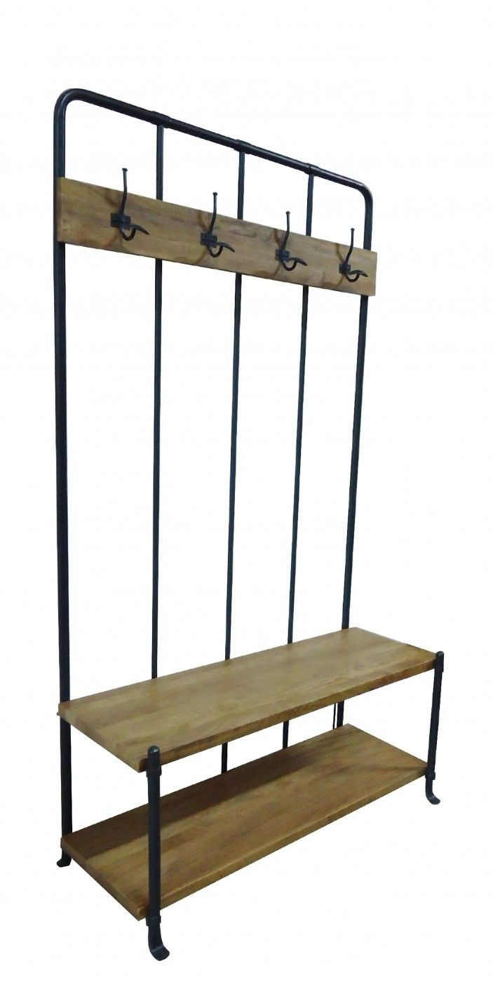 Our classic Hallway Stand fuses the country with the industrial evoking the nostalgia of school corridors. Iron hardware and warm rustic baltic elements also work effortlessly with a Loft style aesthetic where vintage leather seating would soften the hard materials. Three handy storage boxes are also included.
