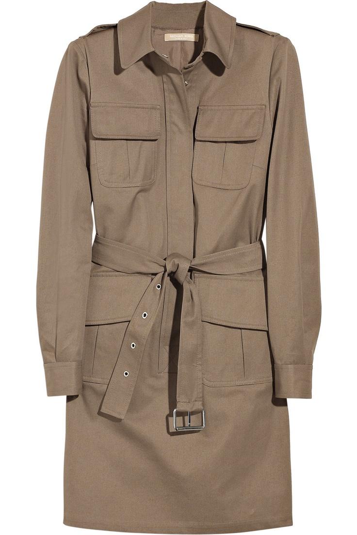 Michael Kors cotton twill dress coat!