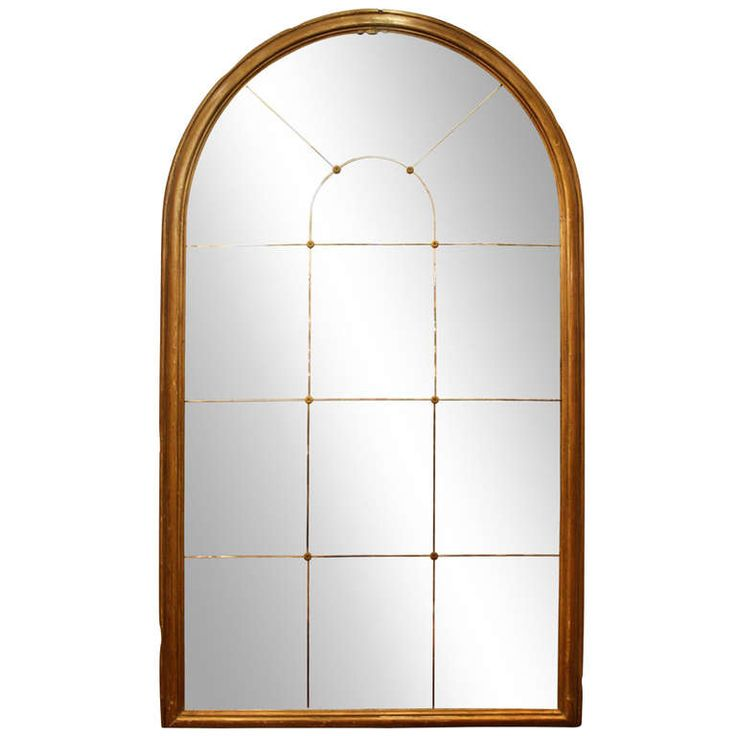 Large Antique Arched Mirror from a New York City Residence | From a unique collection of antique and modern floor mirrors and full-length mirrors at http://www.1stdibs.com/furniture/mirrors/floor-mirrors-full-length-mirrors/