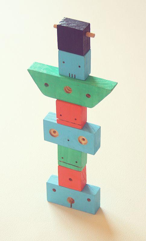 Wooden blocks arranged into an imaginative pattern, 2013, Argentina, by Washava Sasha Juguetes.
