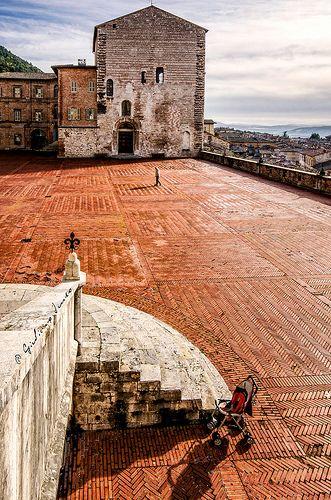 The town of Gubbio in Umbria, Italy   www.regioneumbria.eu