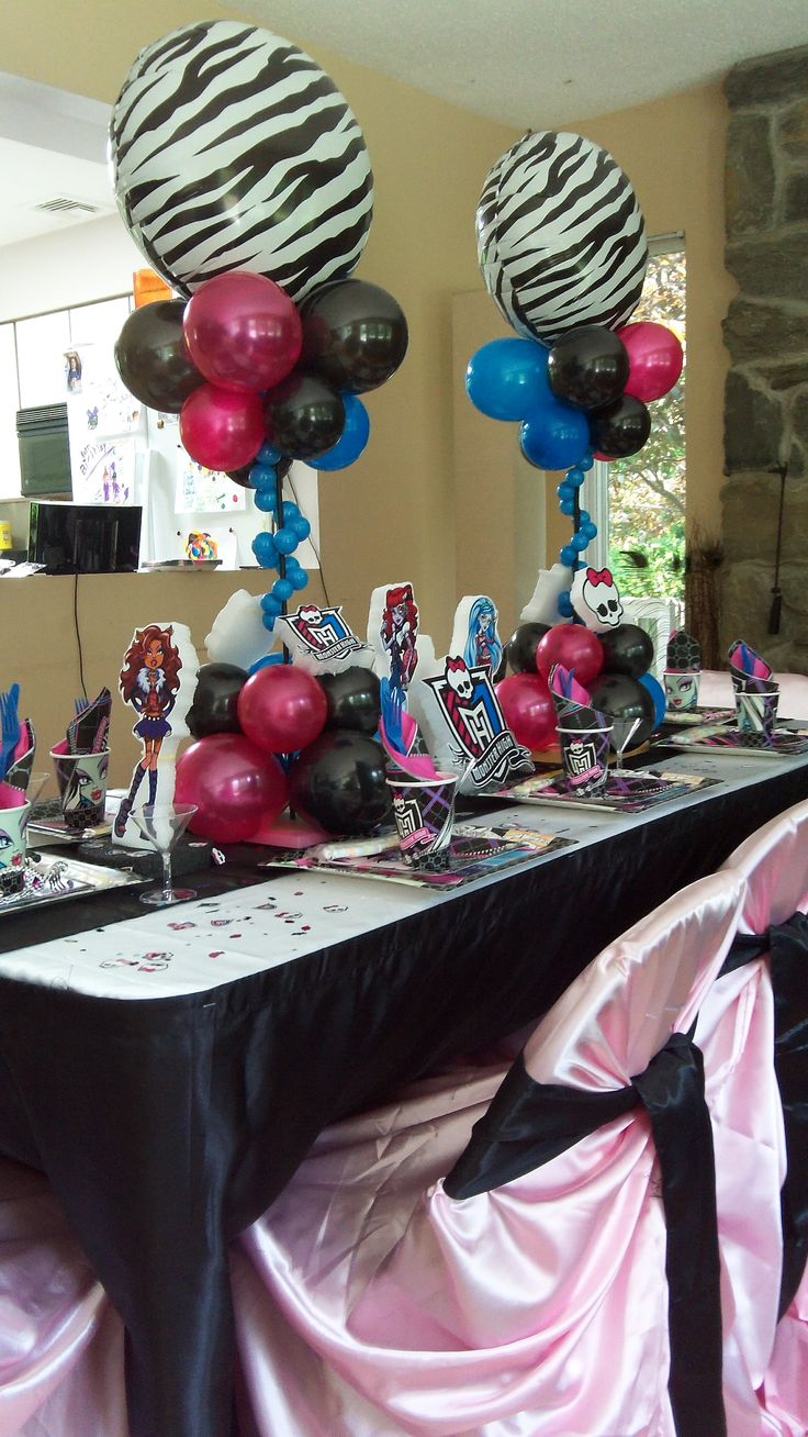 monster high - balloons with patterns