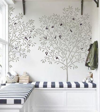 reusable/reversible wall stencil