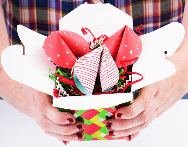 Give the gift of good fortune with cash-stuffed fortune cookies. | 8 Clever Ways To Give Cash And Gift Cards For The Holidays