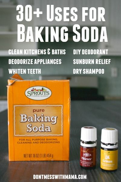 30 Uses for Baking Soda #naturalremedies #naturalclean - DontMesswithMama.com