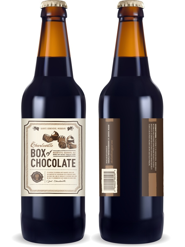 Charleville Box of Chocolate Belgian-style Quadrupel with natural chocolate flavor.