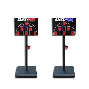 Portable BasketPong Game - The Basketball Version of Beer Pong, Perfect 2-Player Drinking Game