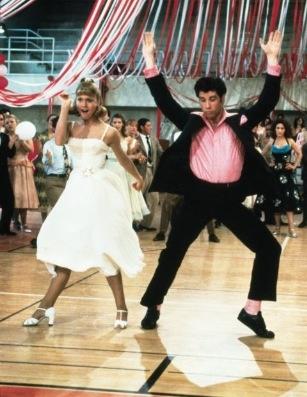 """John Travolta and Olivia Newton John in """"Grease"""""""