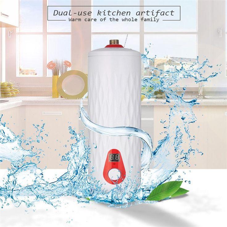 인스턴트 온수기 온도 조절기 전기 디지털 디스플레이 Teasure 열 전기 온수기 주방 욕실 5500 와트 220 볼트