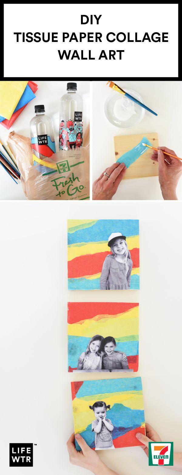 DIY Tissue Paper Collage Wall ArtTrellis