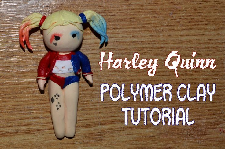 Harley Quinn polymer clay Tutorial from the new Suicide Squad movie chib...