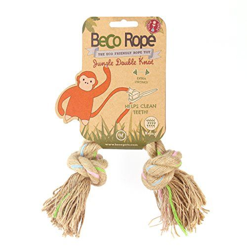 Beco Things Jungle Rope, Double Knot, Medium, Natural Hemp and Cotton Play Toy BecoThings http://www.amazon.co.uk/dp/B00H3BQBXO/ref=cm_sw_r_pi_dp_FMlZvb04VKNQQ