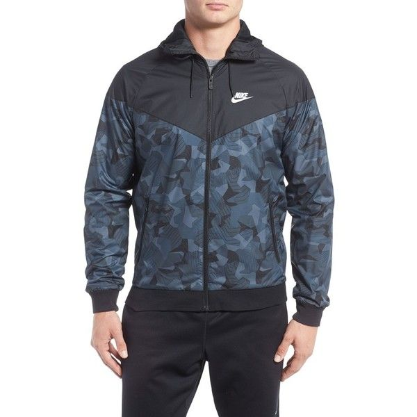 Men's Nike Badlands Aop Performance Jacket (€79) ❤ liked on Polyvore featuring men's fashion, men's clothing, men's activewear, men's activewear jackets and mens activewear