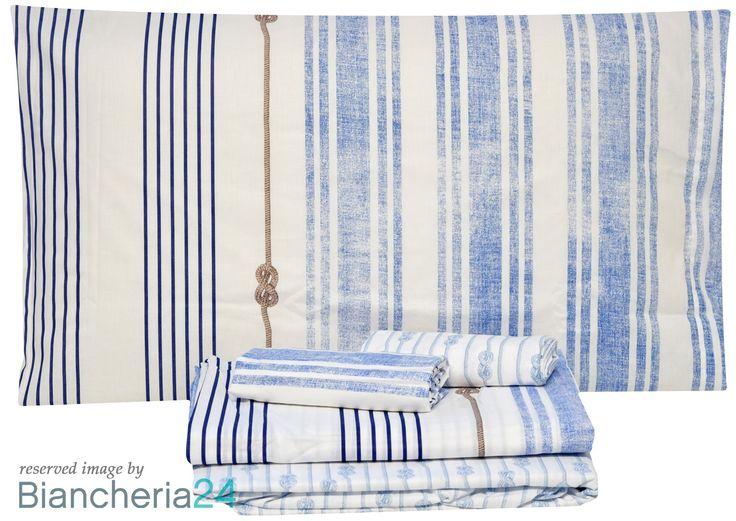 Lenzuola matrimoniali zucchi yachting col.3. Biancheria Zucchi - Bassetti #Lenzuola #Copripiumini #Trapunte #Asciugamani #Accappatoio. www.biancheria24.it