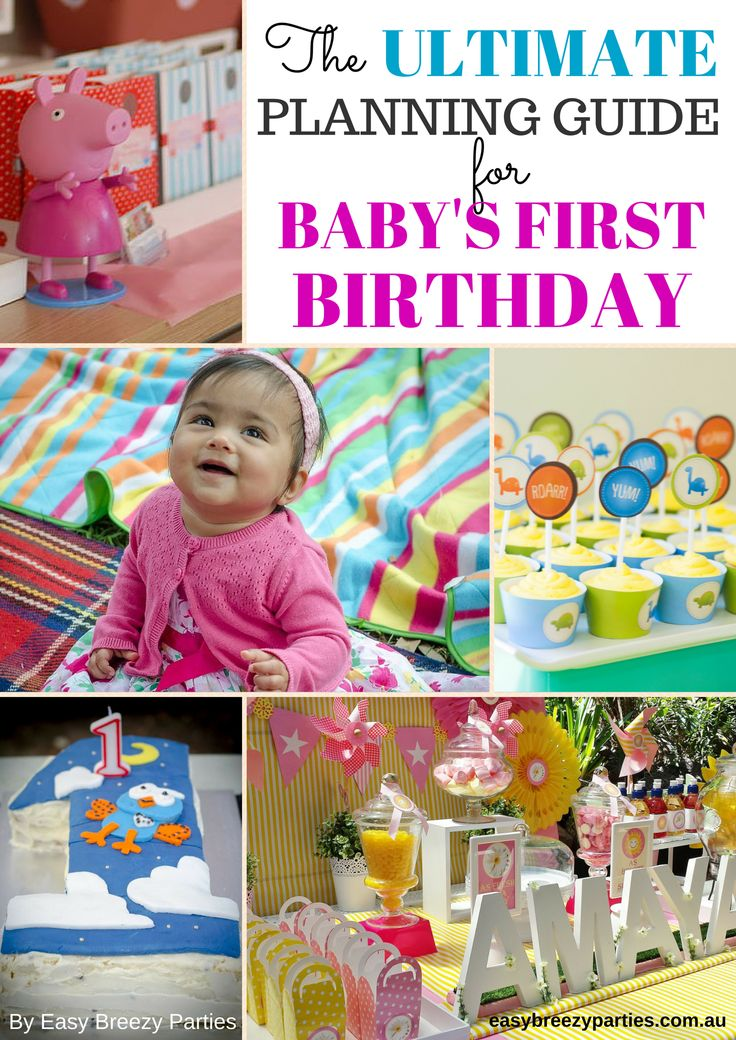 A COMPREHENSIVE GUIDE to throwing an amazing first birthday party for your baby, written by an expert party planner. https://www.etsy.com/listing/222093350/the-ultimate-planning-guide-for-your?ref=related-5 #easybreezyparties