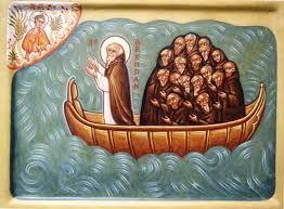 """(17) 489 – Nace en Tralee, en el Condado de Kerry, en Irlanda. San Brendan el Navegante. Quien organizo numerosas expediciones misioneras y de peregrinación en nombre de Cristo y el Evangelio. También estableció en Galway, en la costa oeste de Irlanda, en el condado de Clonfert, un famoso monasterio desde donde partió alrededor del año 550, un épico viaje inmortalizado en el texto """"Latin Navigatio Sancti Brendani Abbatis"""" publicado alrededor del año 800."""