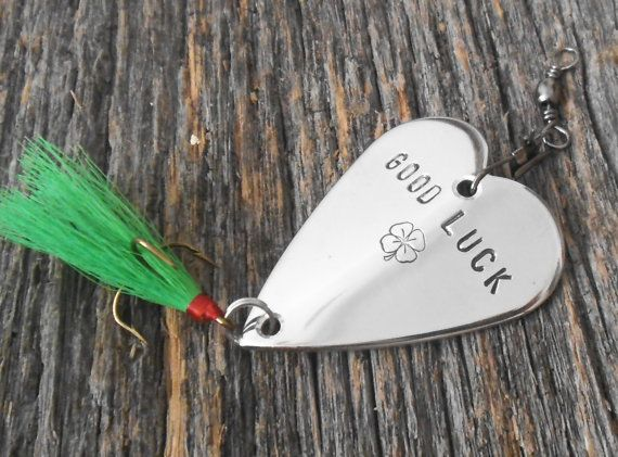 Lucky Fishing Lure  Good Luck Gift Irish Guy by CandTCustomLures, $30.00