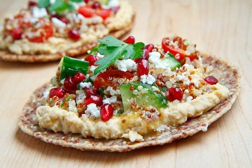 Quinoa Flatbread | Recipe | Quinoa, Pomegranates and Feta