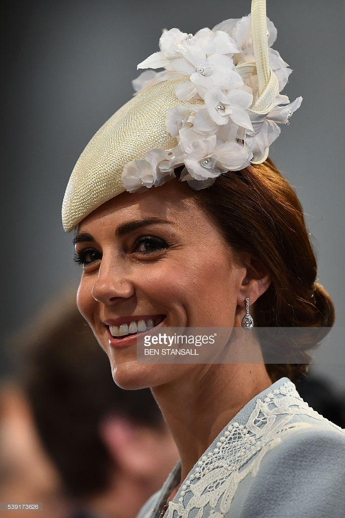 Britain's Catherine, Duchess of Cambridge - Designer: Jane Taylor - Royal Hats