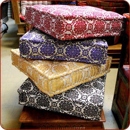 floor pillow | Floor cushion, Moroccan poof, Moroccan seating