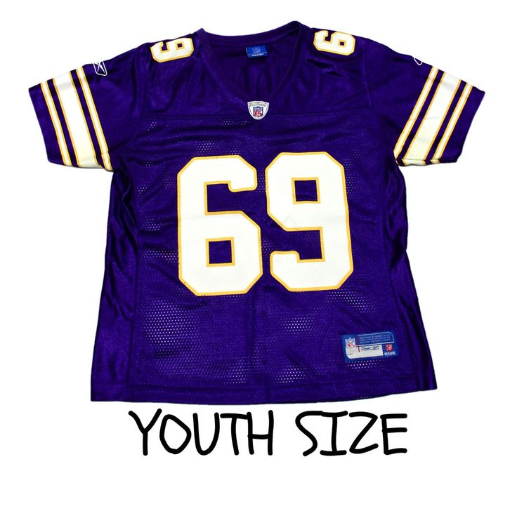 ... real 2008 reebok minnesota vikings 69 jared allen nfl jersey youth size  large c9df4 7fc0d 31cfbbf54