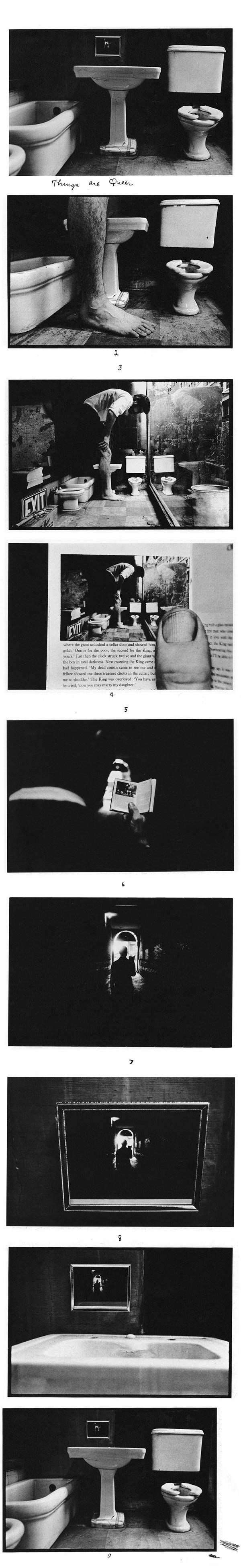 Things Are Queer (1973), Duane Michals    http://longitudephotography.files.wordpress.com/2011/07/things-are-queer-1973-duane-michals.jpg