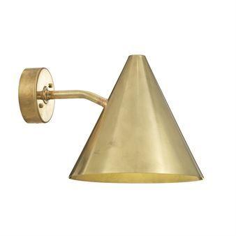 Tratten wall lamp - rough brass - Örsjö Belysning
