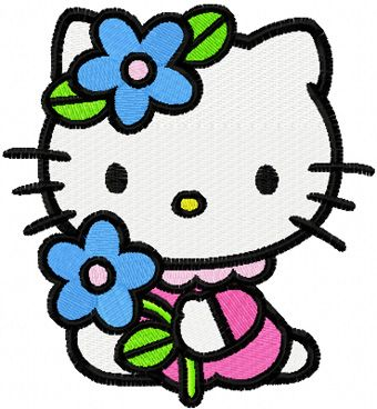 Hello Kitty Summer Day machine embroidery design