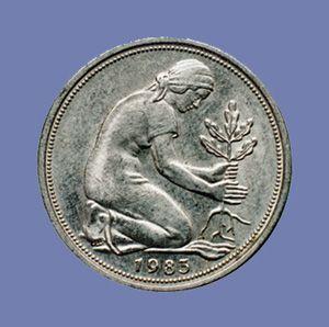 50 Pfennig Münze