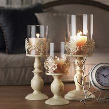 Aibei-european стиле из кованого железа стекло подсвечник , бумажники , держатели творческий стенд романтический при свечах декор свадьбы подсвечник(China (Mainland))