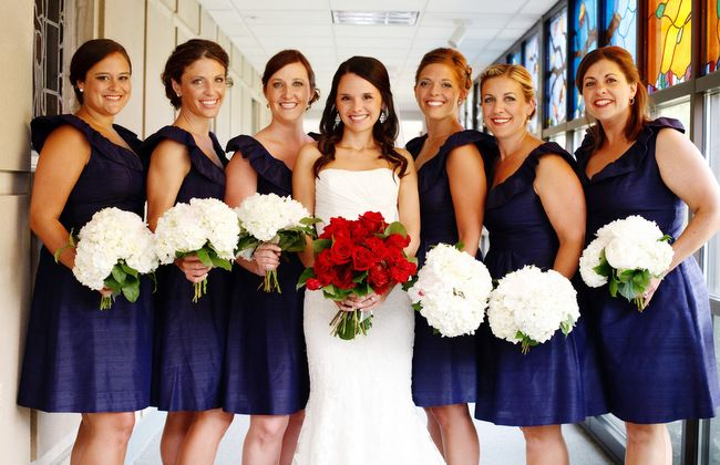 LulaKate // Navy Dupioni // th of July Wedding Perfection