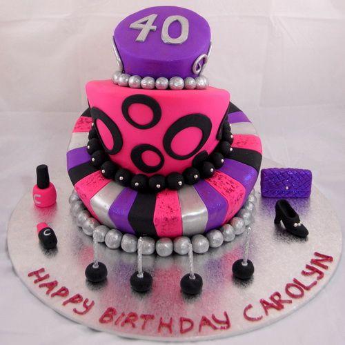 Cake Ideas For 40th Birthday Female : 40th birthday cakes for women 40th Birthday Cakes Price ...