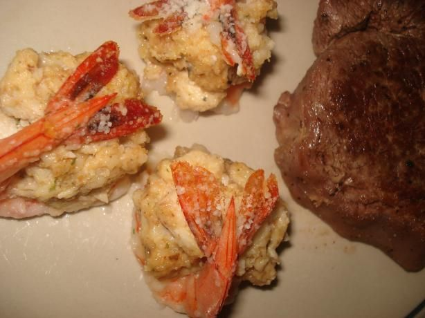 Crab Meat Stuffed Shrimp from Food.com: If I want to REALLY impress, this is a party appetizer that always works! Need romance? Serve a couple with Filet Mignon for Surf-n-Turf - it doesn't get much better than this!