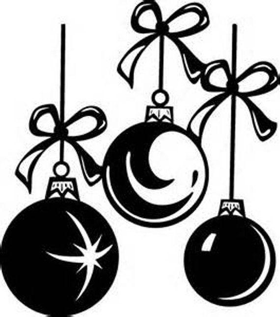 Christmas Bulbs Window Cling / Custom COLOR Window by Adsforyou