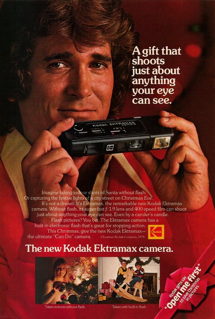 KODAK EKTRAMAX CAMERA and Michael Landon (1978) Oh the little 110 Camera compact and horrible quality. We had it!