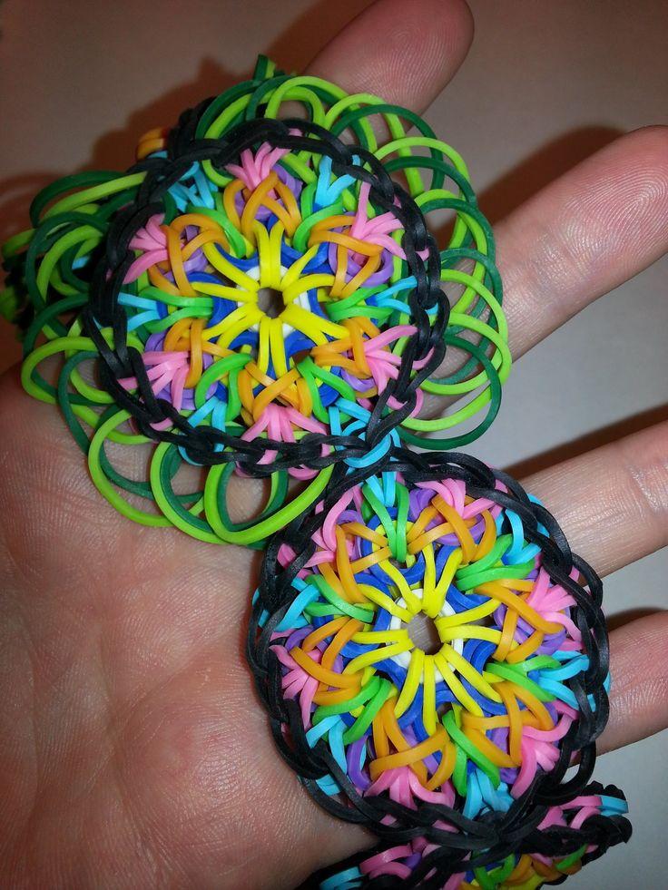 LARGE Kaleidoscope Rainbow Loom Bracelet Tutorial