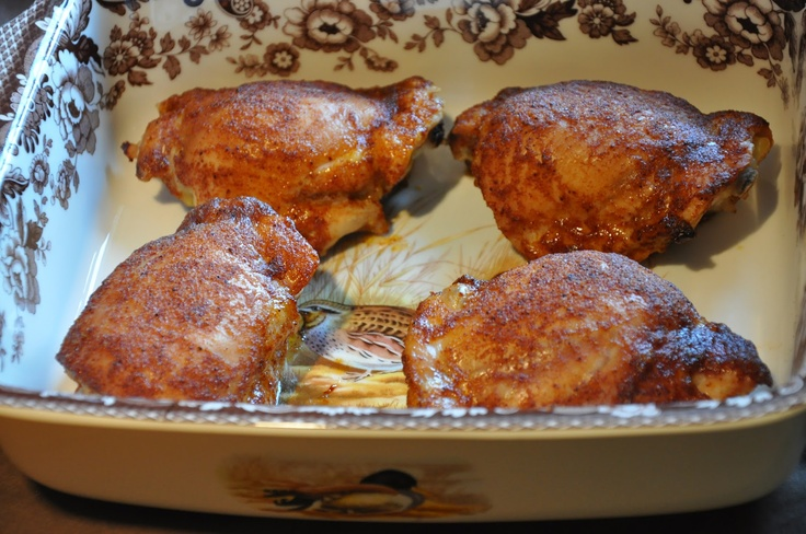 Elizabeth Ann's Recipe Box: Honey Spice Chicken Thighs