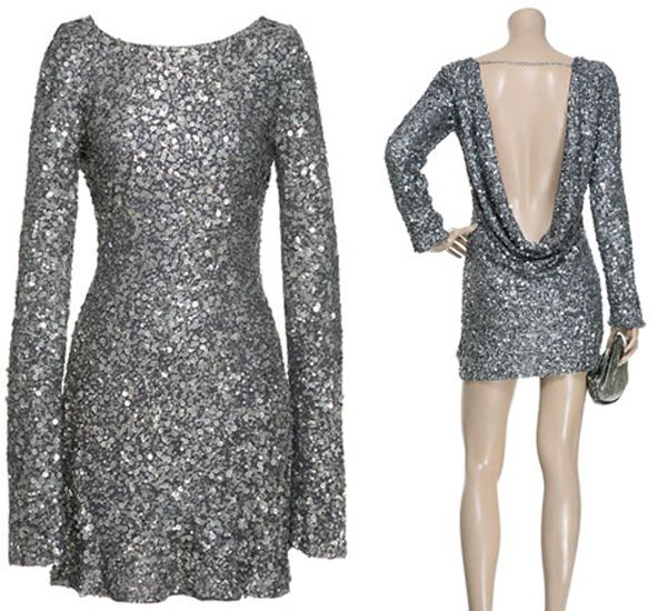 Blow them away in this new years eve party dress. I just like the back. The front is a little to 80s for me.