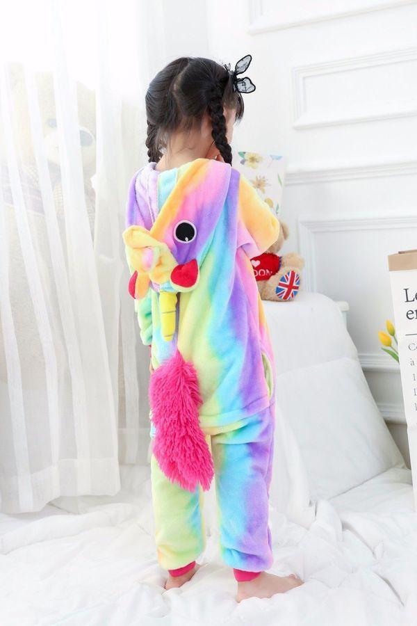 178b6f20d1d8 Regenbogen Einhorn Tier Cosplay Kostüm Einhorn Unisex Hoodie Pajama  Nachtw?sche#Cosplay#Kost#Tier