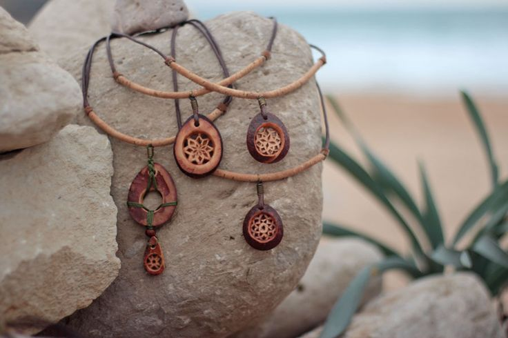 Natural Jewelry by JevZ. Eco-friendly, tribal, green. All materials are natural…