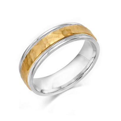 Sterling Silver And Gold True Two Piece Comfort Feel Wedding Band These Rings Are Made From Seamless Struck Blanks Perfectly Ed