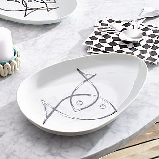 Fish Sketch Small Platter