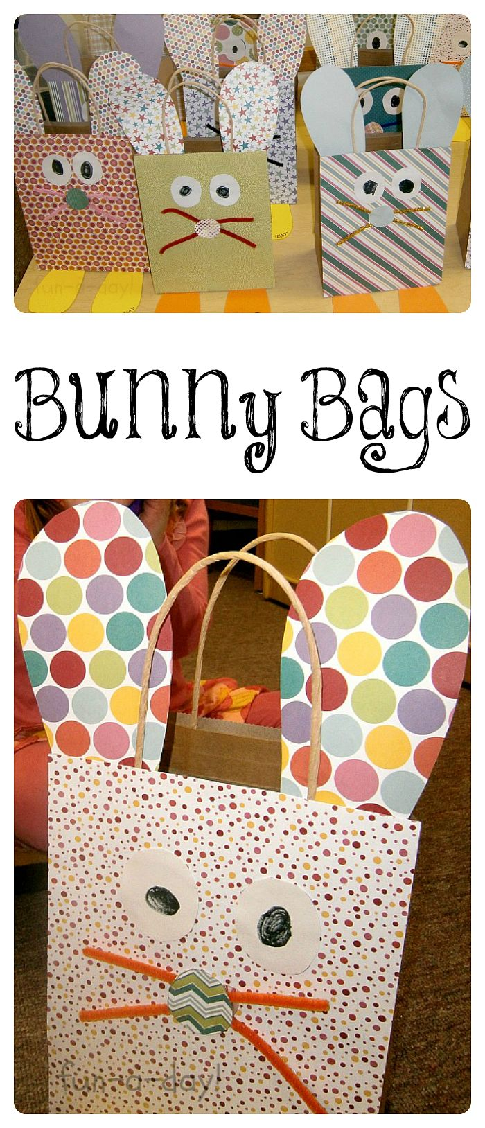 192 best preschool easter crafts images on pinterest activities bunny bags are a colorful easter craft for kids to make before an easter egg hunt negle Image collections