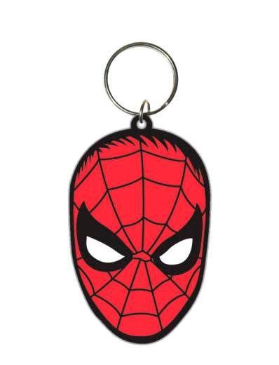Llavero Spiderman. Marvel Comics, 6cm  Estupendo llavero, de caucho, donde vemos el rostro de Spiderman.