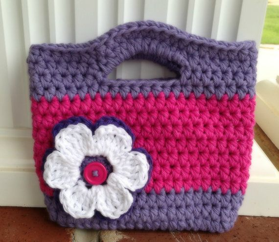 I like this for me. Maybe in a bigger size!...Crochet  Toddler Girl Purse