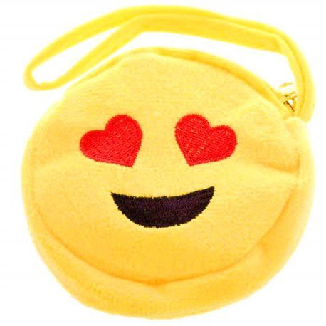 porte-monnaie emoji smiley double yeux coeur