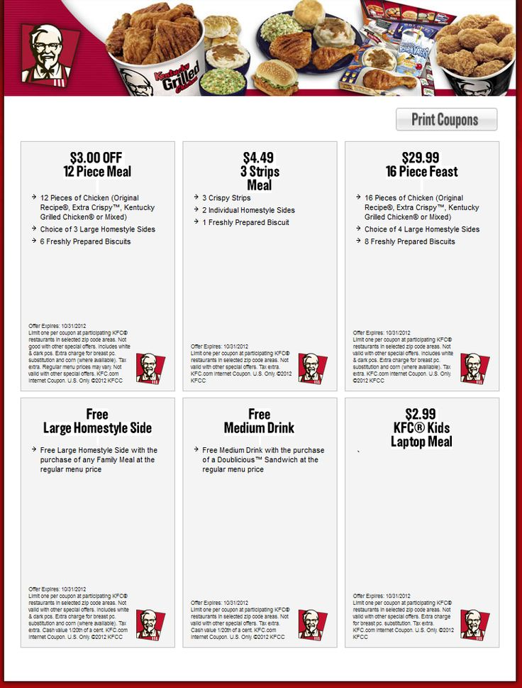 Fast food coupons calgary